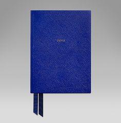 The Soho diary in cobalt cross-grain lambskin. #ScribeInStyle http://www.smythson.com/2015-soho-diary.html