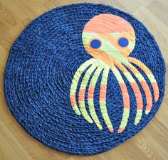 Rug inspiration. I could crochet around rug then see on a pattern.