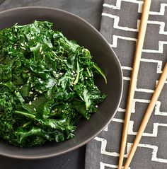 Ooh la la, Citrus Sesame Kale! You make us fall in love with leafy greens all over again.
