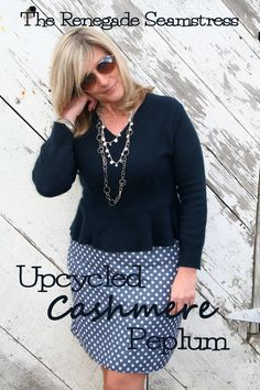 Upcycled Cashmere Peplum | The Renegade Seamstress