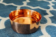 Pure Hammered Copper Dog Bowl or Bowl for general use - Alchemade