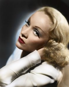 Marlene Dietrich (1901 – 1992) German-American actress and singer. She maintained a long show business career. In 1920s Berlin, she had acted on the stage and in silent films.