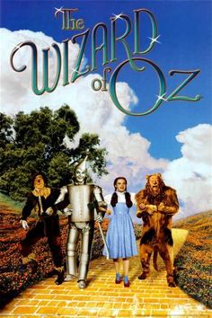 A great Wizard of Oz movie poster! Dorothy, the Scarecrow, the Tin Man, and the Cowardly Lion on the Yellow Brick Road! Check out the rest of our excellent selection of Wizard of Oz posters! Need Poster Mounts. Wizard Of Oz Movie, Wizard Of Oz 1939, See Movie, Movie Tv, Movie Cast, Old Movies, Great Movies, Awesome Movies, Vintage Movies