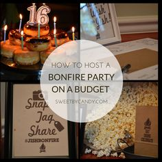 Host a bonfire party on a budget for teens or for anyone! Tips and suggestions for the a great party! Host a bonfire party on a budget for teens or for anyone! Tips and suggestions for the a great party! Bonfire Birthday Party, 18th Birthday Party, Fall Birthday, Sweet 16 Birthday, Birthday Celebration, Birthday Party Themes, Birthday Nails, Bonfire Parties, Backyard Bonfire Party