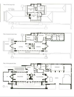 Frank Lloyd Wright - Robie House - Floor Plan