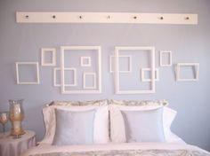 decorate wall with empty frames