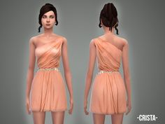 The Sims Resource: Crista - dress by April • Sims 4 Downloads