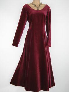 LAURA ASHLEY Vintage Deep Claret Velvet by VintageLauraAshley