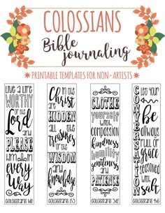 COLOSSIANS - printable Bible journaling template for non-artists. Just PRINT & TRACE!