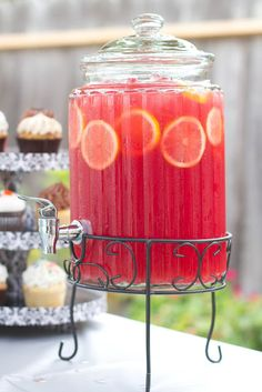 Pink lemonade sparkling fruit punch.