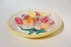 Lizard Candy Bowl Gift for Him Yellow Kitchen Decor by REDceramics, £15.00