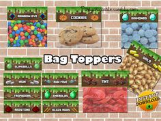 Minecraft printable bag toppers birthday party…