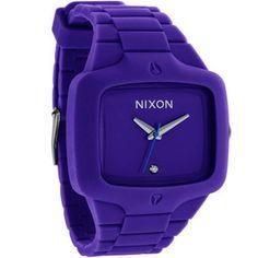 Purple Nixon watch.