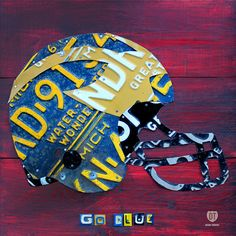Michigan Wolverines Football Helmet License by designturnpike, $179.00 #BeatOhio #PinToWin