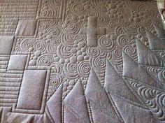 Krista Withers Sewing Machine Quilting, Machine Quilting Patterns, Quilting Designs, Quilt Patterns, Quilting Ideas, Spiral Quilting, Longarm Quilting, Free Motion Quilting, Vashon Island