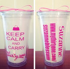 Hey, I found this really awesome Etsy listing at https://www.etsy.com/listing/190736343/16oz-drink-tumbler-thirty-one-gifts