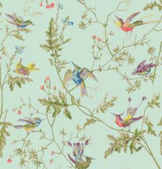 wallpaper background birds flowers pastel vintage [cole]