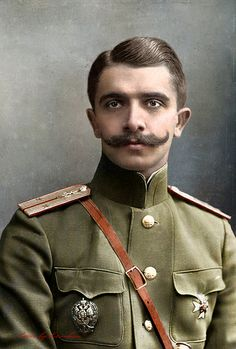 The first Russian military pilot Evgeny Rudnev