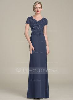 A-Line  V-neck Floor-Length Beading Sequins Zipper Up Sleeves Short Sleeves  No Other Colors General Plus Chiffon Lace US 2   UK 6   EU 32 Mother of the  ... 3f28cdcb045b