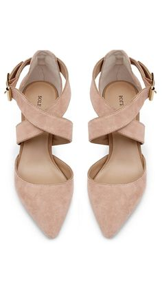 Sole Society:Blush criss cross heels