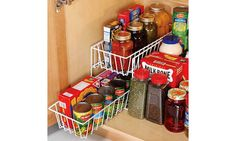 2 Tier Pull Out Drawer Basket, Metal Wire, Cabinet