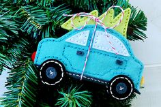 Stitched Car and Stitch Car Tree Dies by Papertrey ink - Erin Lincoln