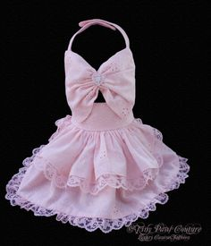 Little Lady  Couture Pink Eyelet Dog Harness Dress. $75.00, via Etsy.