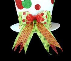 Items similar to Polka dot Christmas Hat, Christmas tree topper, Christmas table decoration,red white and green Christmas tree topper on Etsy Christmas Hat, Green Christmas, Christmas Tree Toppers, Christmas Ornaments, Diy Mad Hatter Hat, Christmas Table Decorations, Holiday Decor, Fall Pallet Signs, Red And White