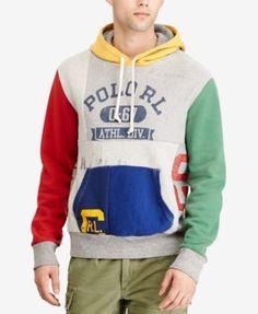 POLO RALPH LAUREN Polo Ralph Lauren Men's Patchwork Hoodie. #poloralphlauren #cloth #