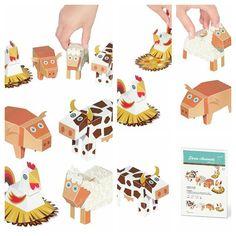 PUKACA - Farm Animals Paper Toys