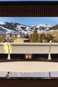 Jaw-dropping views right from your tub. Gstaad Palace (Gstaad, Switzerland) - Jetsetter