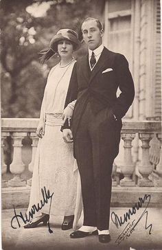 Princess Henriette, duchess of Vendome , neé Pss of Belgium (sister of king Albert I) with son, Prince Charles Phillipe