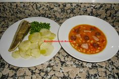 cocina a niveles thermomix, recetas thermomix, alubias thermomix, pescado thermomix Chana Masala, Mashed Potatoes, Food And Drink, Menu, Chicken, Cooking, Ethnic Recipes, Big Fish, Gastronomia