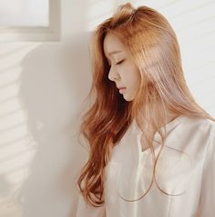 Soft blouse and loose flowing hair style. Feminine and pretty. -Lily