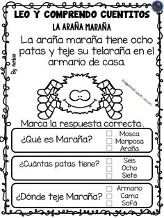 LEO Y COMPRENDO CUENTITOS – Imagenes Educativas Bilingual Classroom, Kindergarten Classroom, Spanish Lessons, Teaching Spanish, Reading Passages, Reading Comprehension, Nouns And Verbs, Kids Learning Activities, Teaching Materials