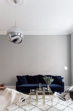 The Perfect Blue Velvet Couch (Fashion Squad)