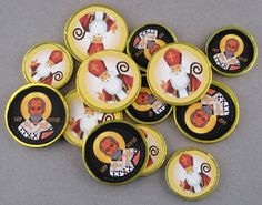 Colored St Nicholas coins- printables to add to store bought chocolate coins