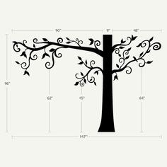 Silhouette Tree With Flowers