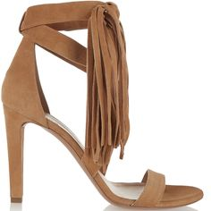 Chloé Spring 2016 Tasseled Suede Sandals - Buy Online - Designer Sandals