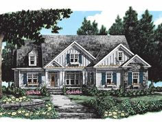 Eplans Cottage House Plan - One Story Is All You Need - 2487 Square Feet and 3 Bedrooms from Eplans - House Plan Code HWEPL11109
