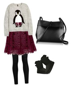 """Pinguin o"" by nikensuryadi on Polyvore featuring Donna Karan, UGG Australia, Kara and Alice + Olivia"