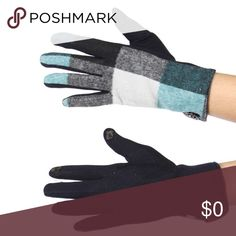 🎁PLAID TOUCH SCREEN GLOVES🎁 Colder weather is here!  You need these plaid touch screen gloves!  No more having to take your gloves off to text and they are thermal on the inside as well! Colors are Mint green, gray and black. 60% Acrylic 40% Polyester Accessories Gloves & Mittens