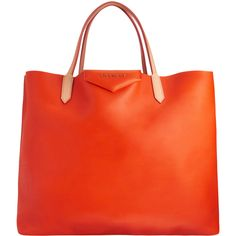 Givenchy Antigona Tote in Bright Orange. Planning early for Spring/Summer. $1280.
