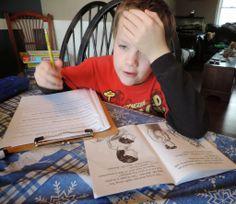 Homeschool literacy work:  phonics flap books, read the kitchen, polar bears,and more!