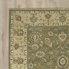 Barge Hand-Knotted Olive Area Rug