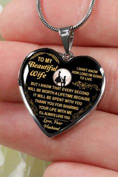 beautiful to my wife necklace from husband best gift for birthday graduation military