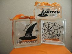 Halloween glass blocks