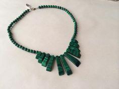 Malachite Necklace  $85  Cool Stuff For Cool People Dealer #282  Lula B's  1010 N. Riverfront Blvd. Dallas, TX 75207