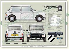 Mini Mary Quant Designer 1988 classic car portrait print
