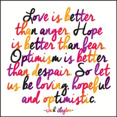 Inspirational Quotes | Love Is Better Than Anger